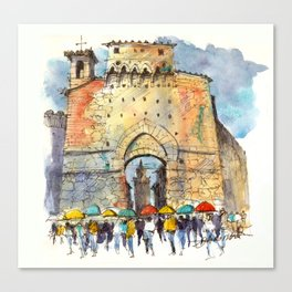Gate of San Gimignano, Tuscany Canvas Print