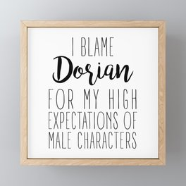 High Expectations - Dorian Framed Mini Art Print