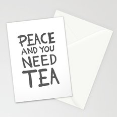 Peace and you need Tea (Text Only) Stationery Cards