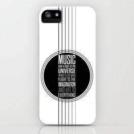 Lab No. 4 - Plato philosopher Inspirational Music Quotes  poster iPhone Case