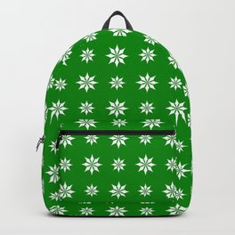geometric flower 52 green Backpack