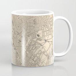 Vintage Map of Birmingham England (1851) Coffee Mug