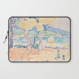 Pines on the Coastline by Henri-Edmond Cross, French Laptop Sleeve