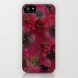 """Manila deep rose flowers"" iPhone Case"