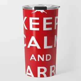 Keep Calm And Carry On (Lebanon) Travel Mug