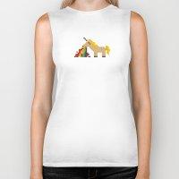 unicorn Biker Tanks featuring unicorn by MariMari