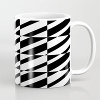 grid Mugs featuring Grid by Laura Maria Designs