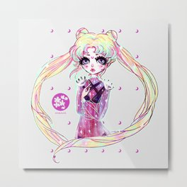 moon power ❤ usagi Metal Print