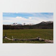 mountains. Rug