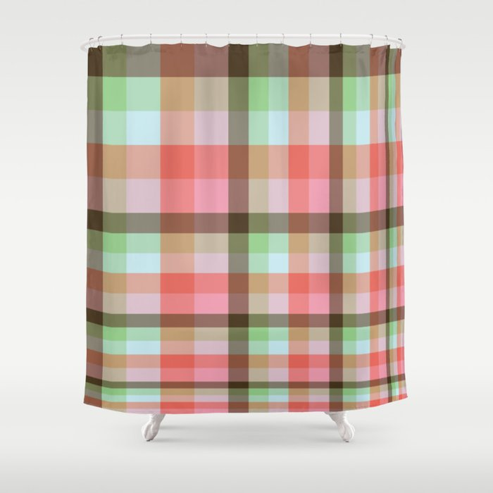 Fibonacci Gird Neapolitan With Mint Cotton Candy Shower Curtain