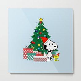 Snoopy Winter Christmas xmas Metal Print