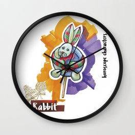 Rabbit horoscope Wall Clock