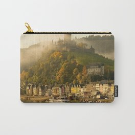 Impressive Reichsburg Castle Cochem Mosel River Rhineland Palatinate Germany Europe Ultra HD Carry-All Pouch