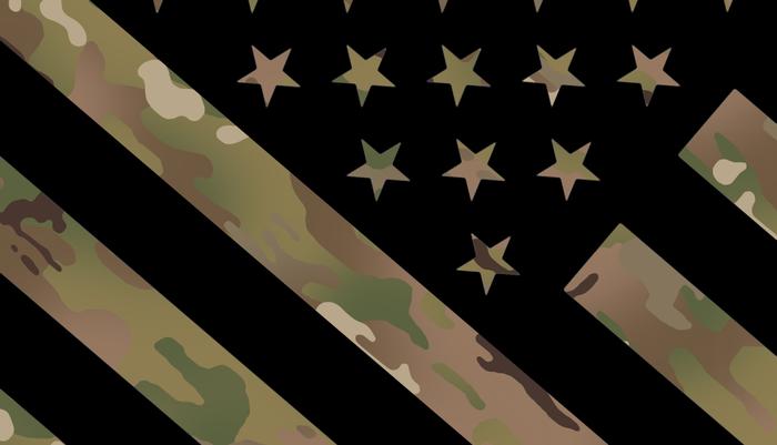 U.S. Flag: Military Camouflage Pillow Sham