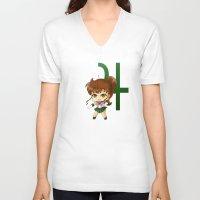 sailor jupiter V-neck T-shirts featuring Sailor Jupiter by artwaste