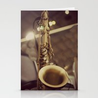 saxophone Stationery Cards featuring Saxophone by KimberosePhotography