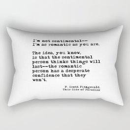The romantic person - F Scott Fitzgerald Rectangular Pillow