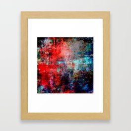 Modern Contemporary Red Abstract IntoDarkness Design Framed Art Print