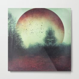 unReality - Fantastic Landscape with Red Planet Metal Print