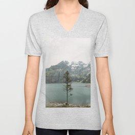 Lone Switzerland Tree - Landscape Photography Unisex V-Neck