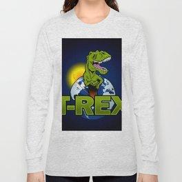 T Rex Dinosaur in the planet Long Sleeve T-shirt