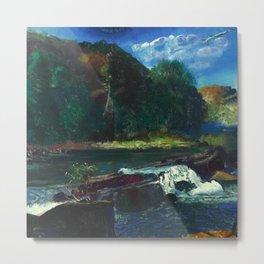 """George Wesley Bellows """"Mill Dam"""" Metal Print"""