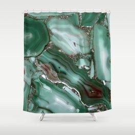 Luxury Malachite Marble Agate  Shower Curtain