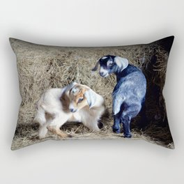Goat Kids Rectangular Pillow
