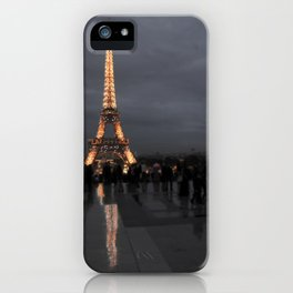 Eiffel Tower With Night Lights iPhone Case