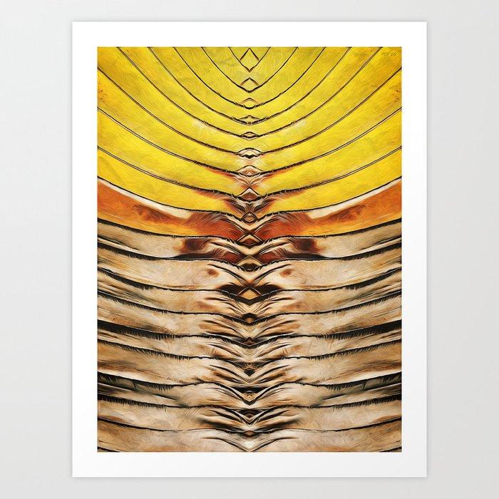 Palm Frond Leaf Macro Art Print