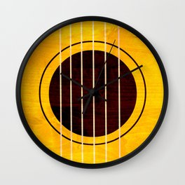 Minimal Mini Guitar Wall Clock