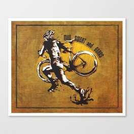 Mud Sweat and Gears Cyclocross Illustration Canvas Print