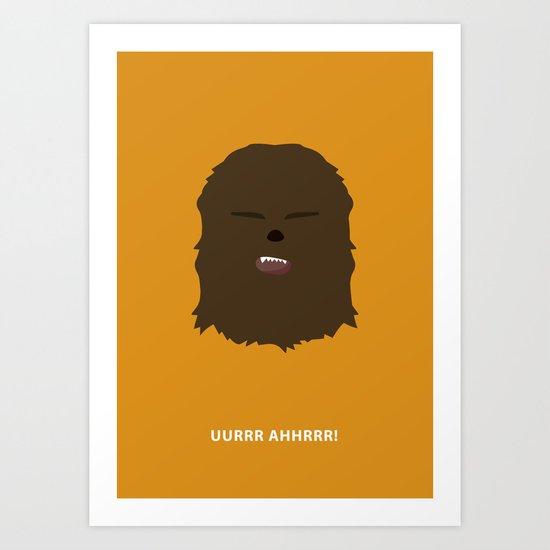 Star Wars Minimalism - Chewbacca Art Print