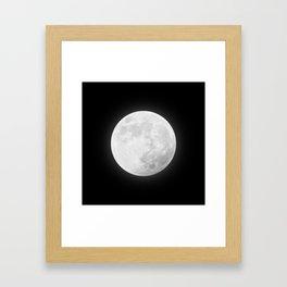 CHALK WHITE MOON Framed Art Print