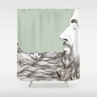 beard Shower Curtains featuring Beard  by Centprent