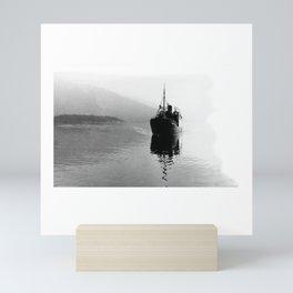 Fjord ship Mini Art Print