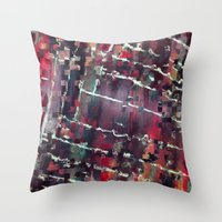 code Throw Pillows featuring Code by MonsterBrown