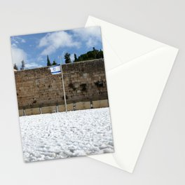 Snowy Jerusalem, Old City, Western Wall Stationery Cards