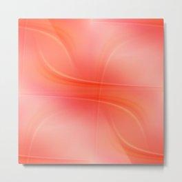 Shades in orange and pink Metal Print