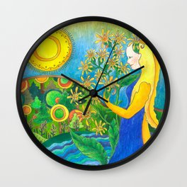 My queen of goldenrod Wall Clock
