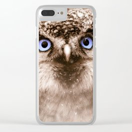 OWL EYES Clear iPhone Case