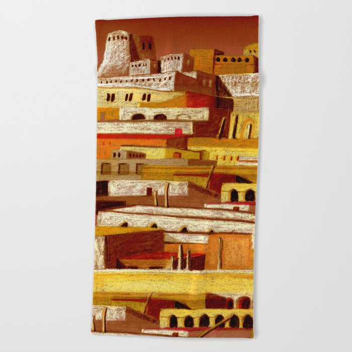 The fortress at sunset Beach Towel