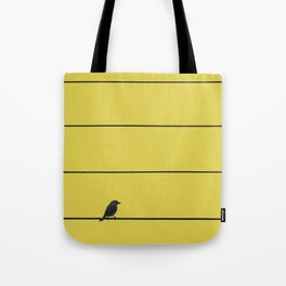 Bird and wires Tote Bag
