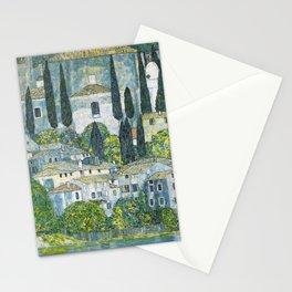 Gustav Klimt - Church in Cassone Stationery Cards