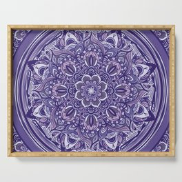 Great Purple Mandala Serving Tray