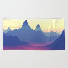 Mountains of Another World Beach Towel