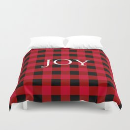 Joy Red Buffalo Check Duvet Cover