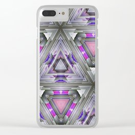 ultra violet triangles vb Clear iPhone Case