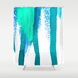 three legged race : abstract Shower Curtain