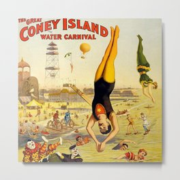 The Great Coney Island Water Carnival – Barnum & Bailey Circus Poster Metal Print